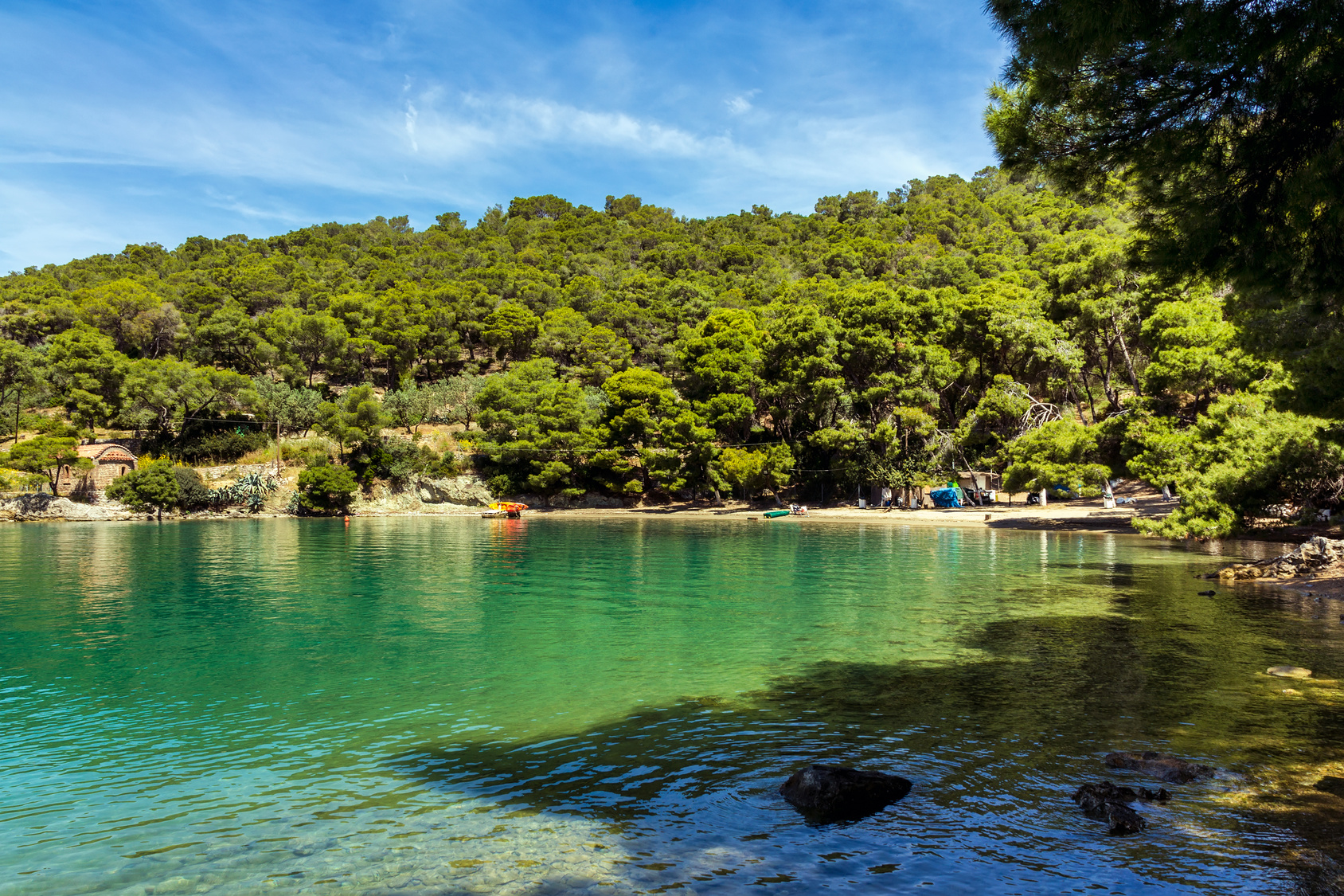 Port of Love in Poros, Greece